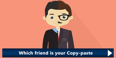 Which Friend Is Your Copy Paste?